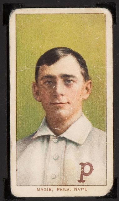 1909-1911 T206 Sherry Magie (Magee) (portrait) Philadelphia Nat'l (National)