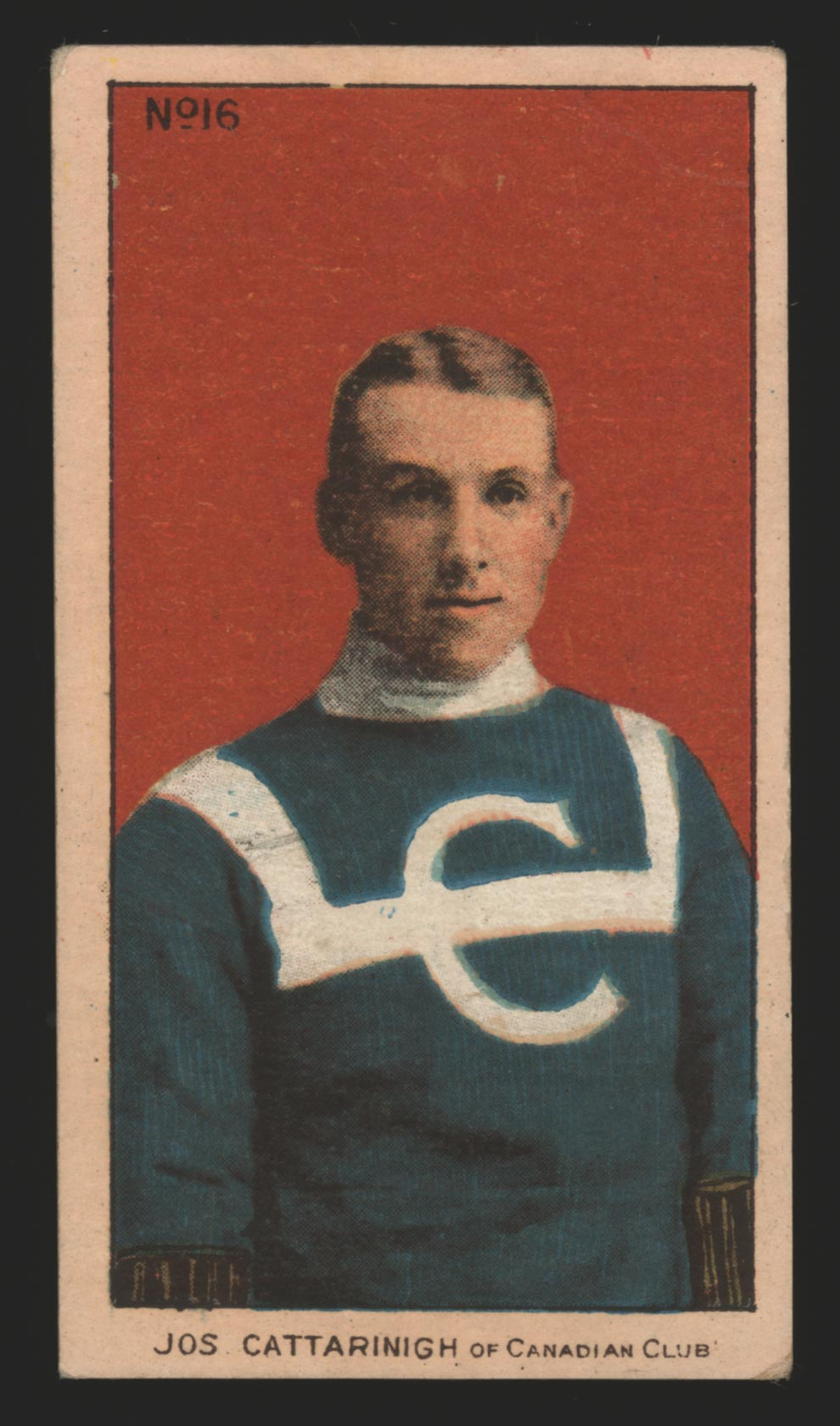 1910-1911 C56 Imperial Tobacco #16 Joseph Cattarnich Canadian - Front