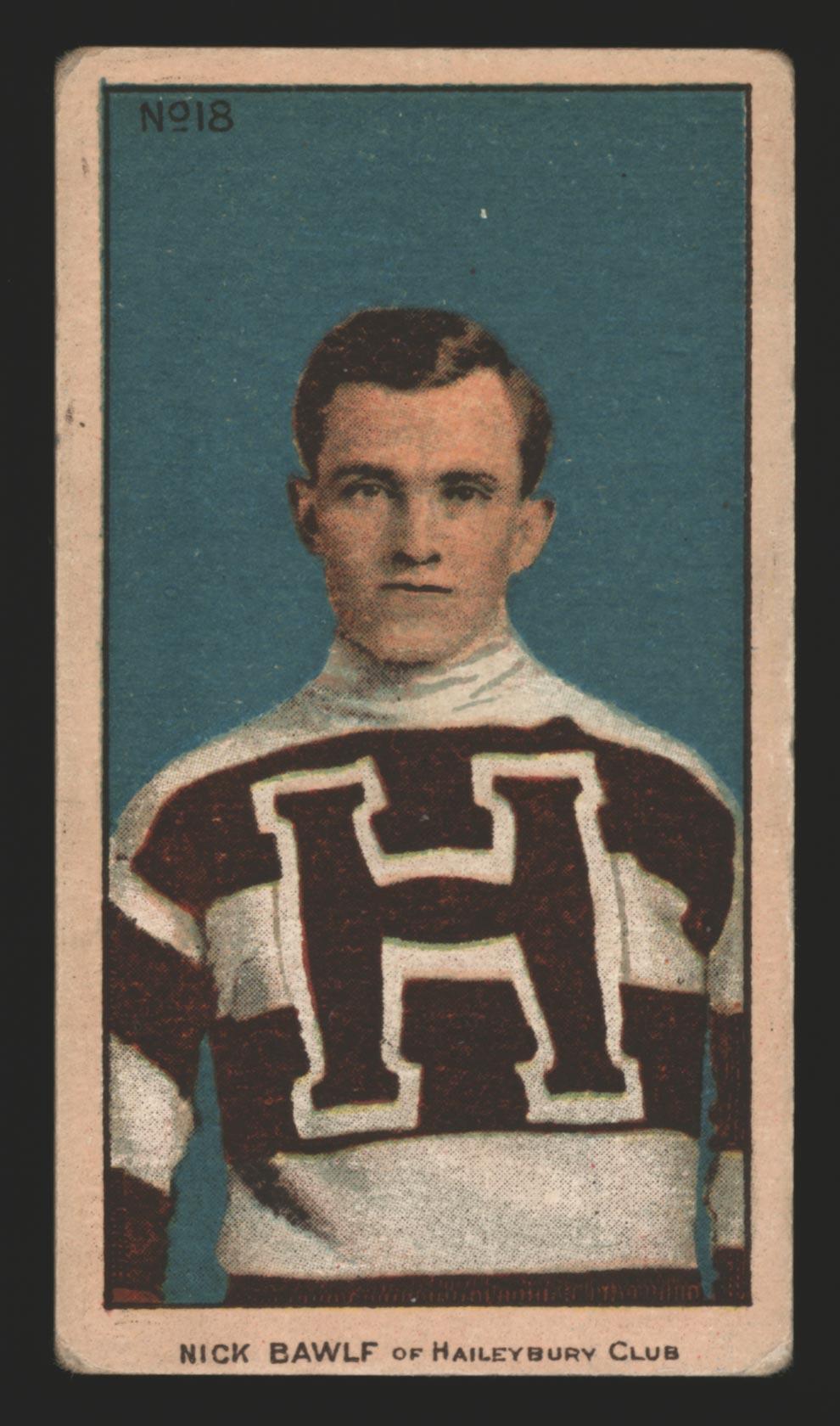 1910-1911 C56 Imperial Tobacco #18 Nick Bawlf Haileybury - Front