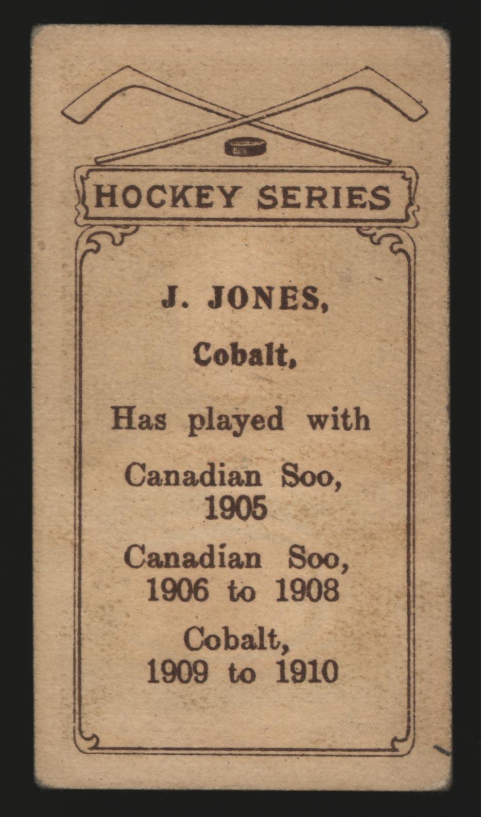 1910-1911 C56 Imperial Tobacco #19 Jim Jones Cobalt - Back