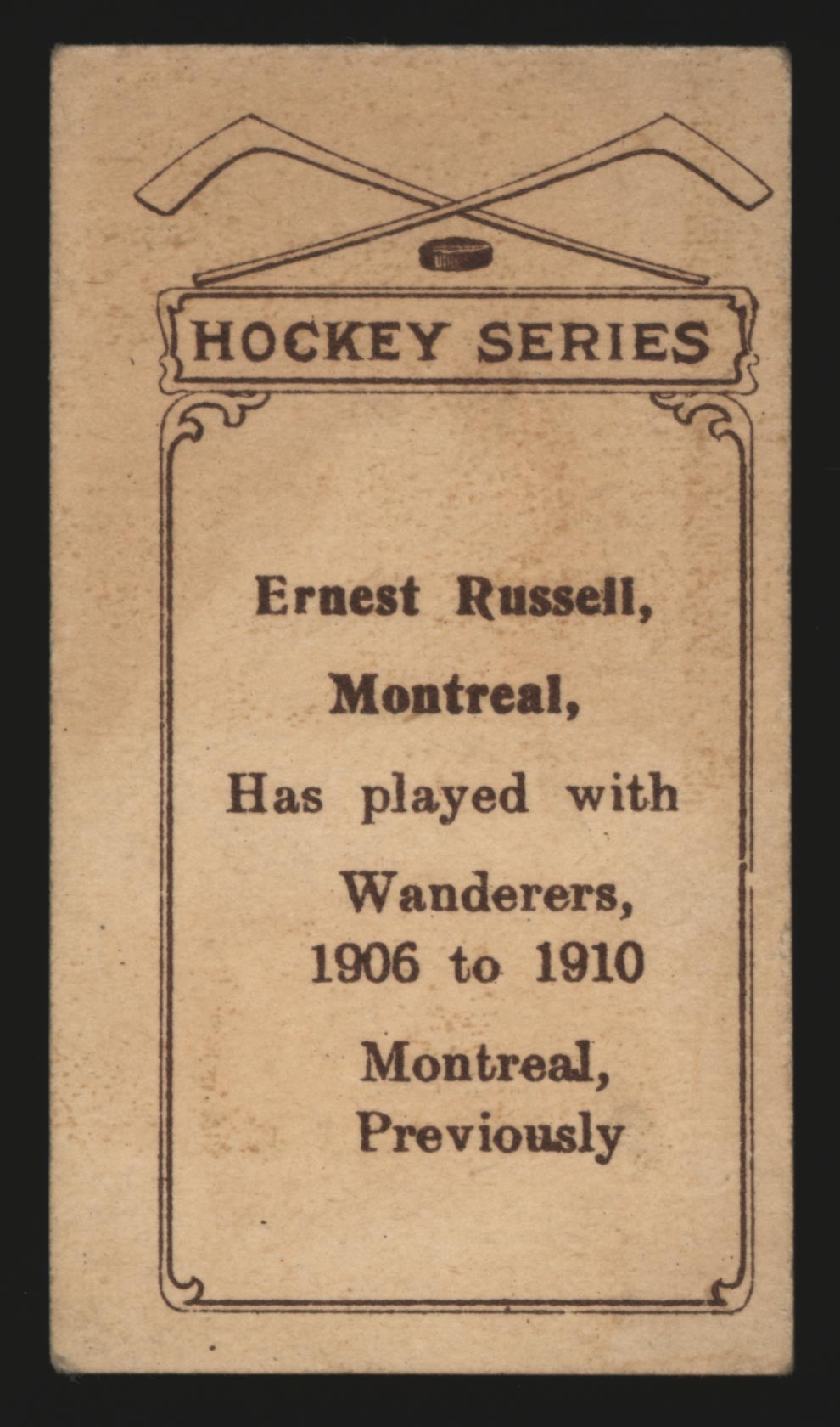1910-1911 C56 Imperial Tobacco #20 Ernest Russell Wanderers - Back