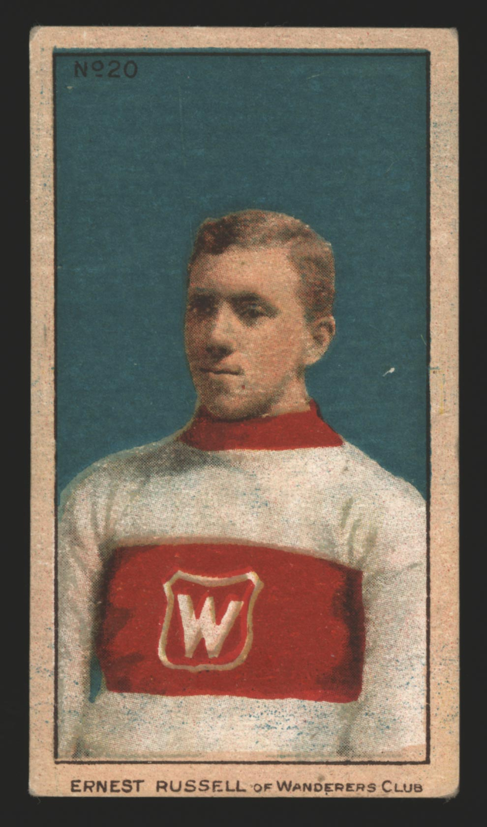 1910-1911 C56 Imperial Tobacco #20 Ernest Russell Wanderers - Front