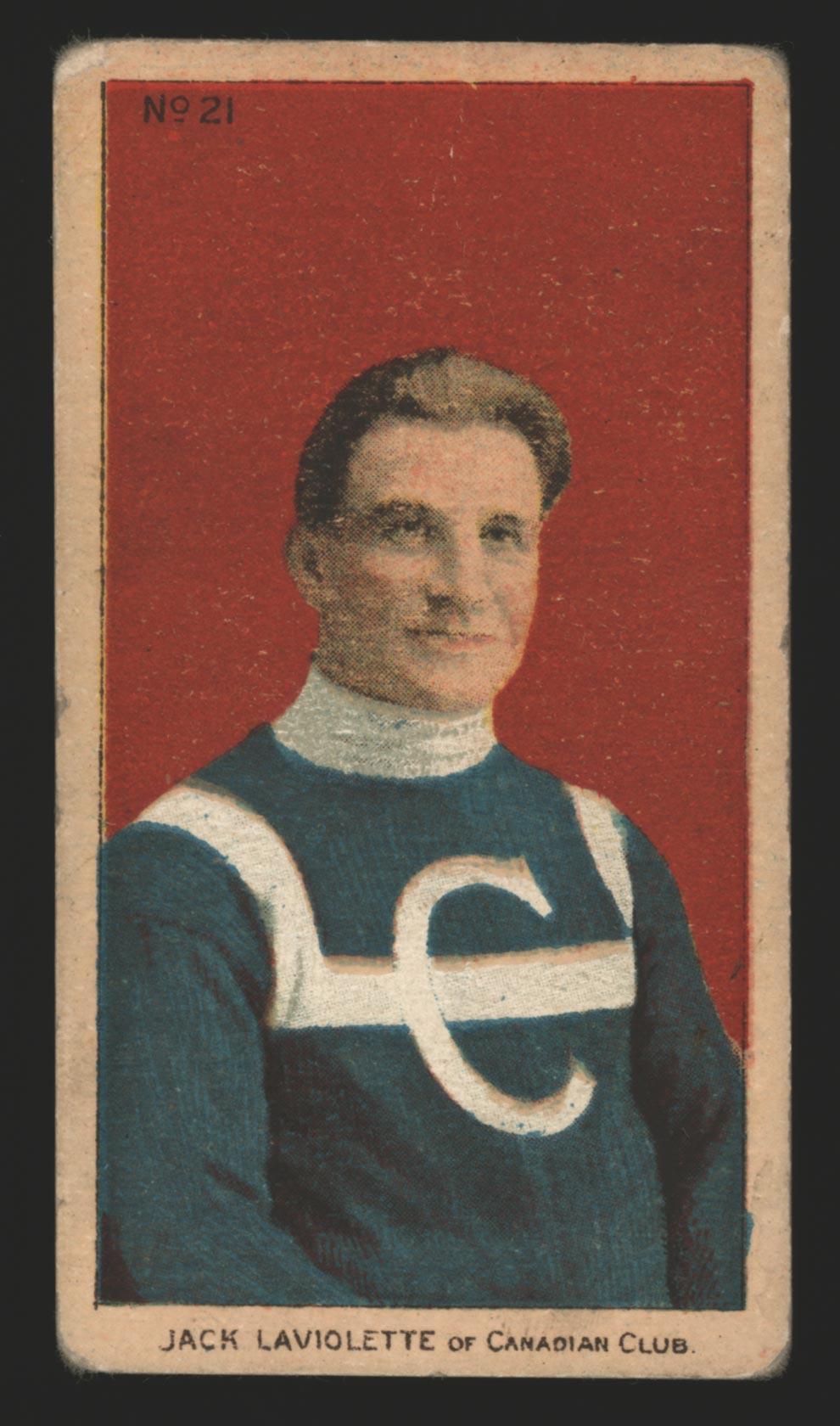 BMW Sportscards   Jack Laviolette #21   1910-1911 C56 Imperial Tobacco Hockey