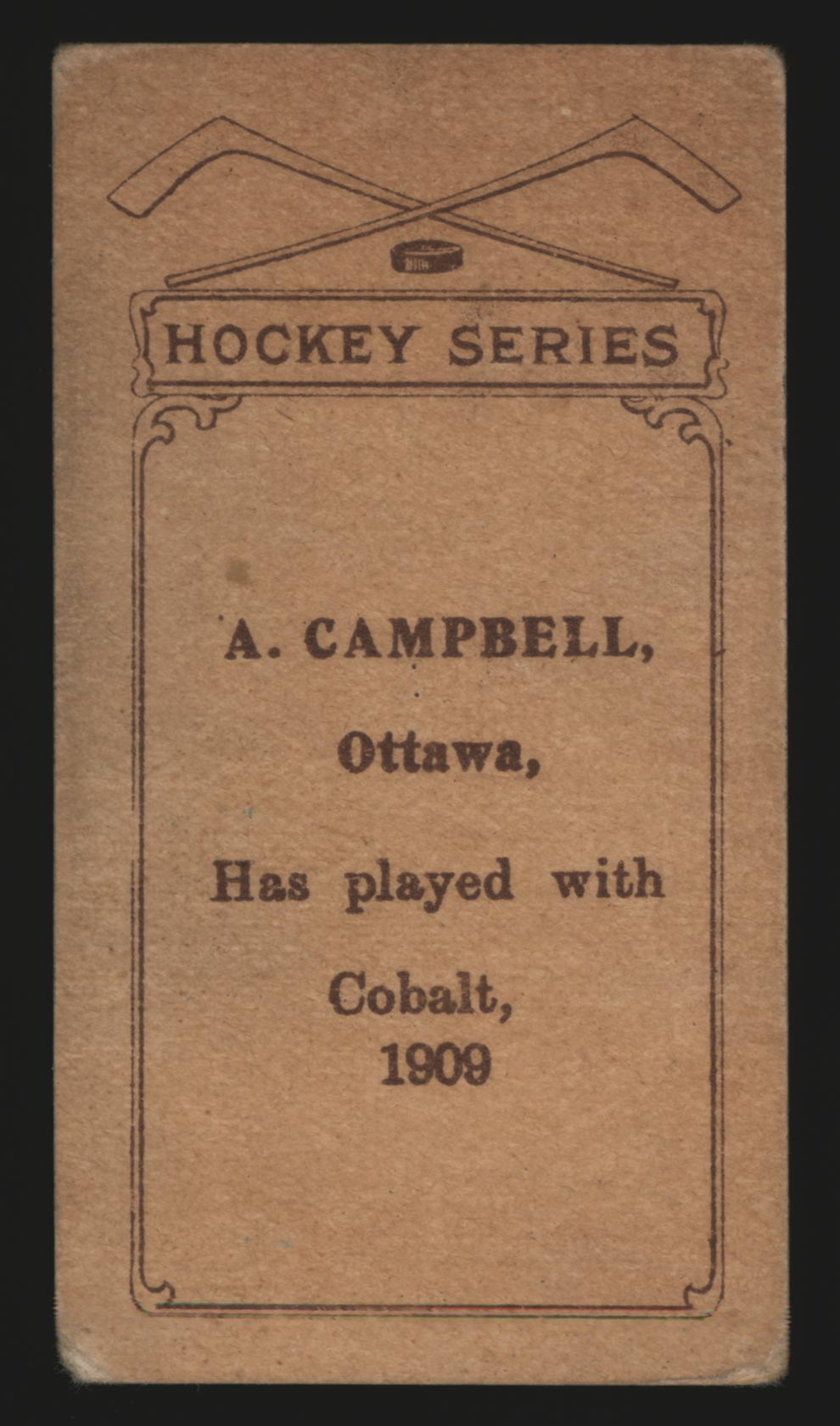 1910-1911 C56 Imperial Tobacco #9 Angus Campbell Cobalt - Back
