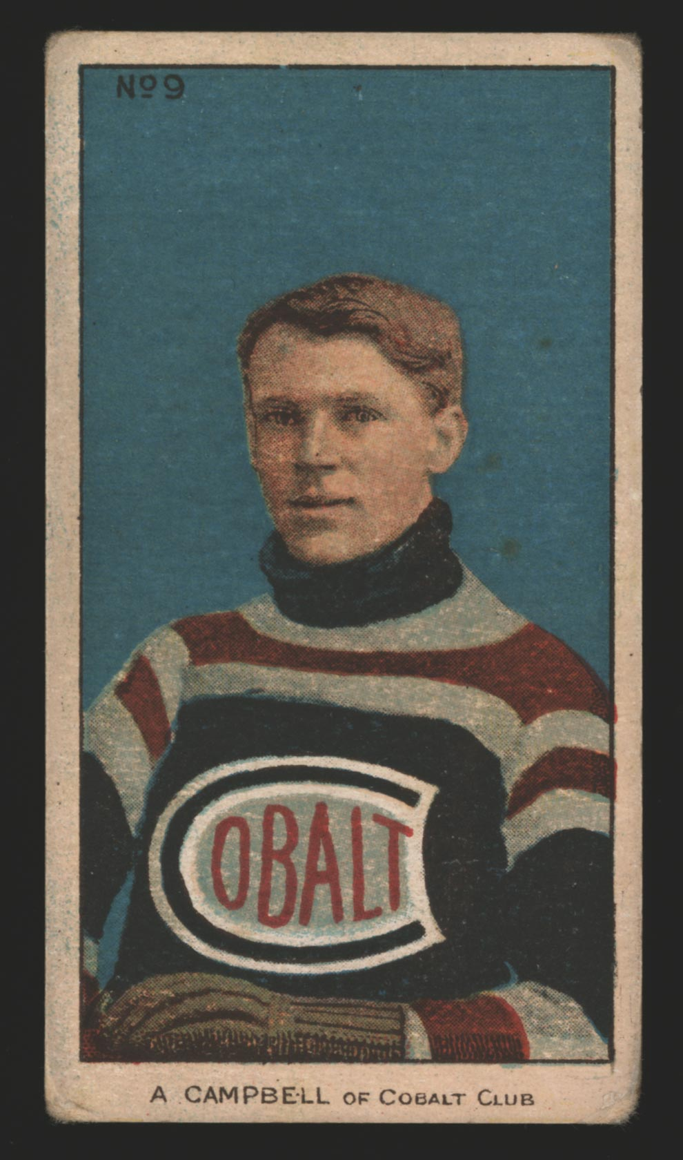 1910-1911 C56 Imperial Tobacco #9 Angus Campbell Cobalt - Front