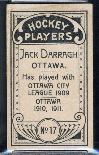 1911-1912 C55 Imperial Tobacco #17 Jack Darragh Ottawa - Back