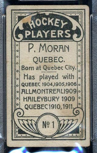 1911-1912 C55 Imperial Tobacco #1 Paddy Moran Quebec - Back