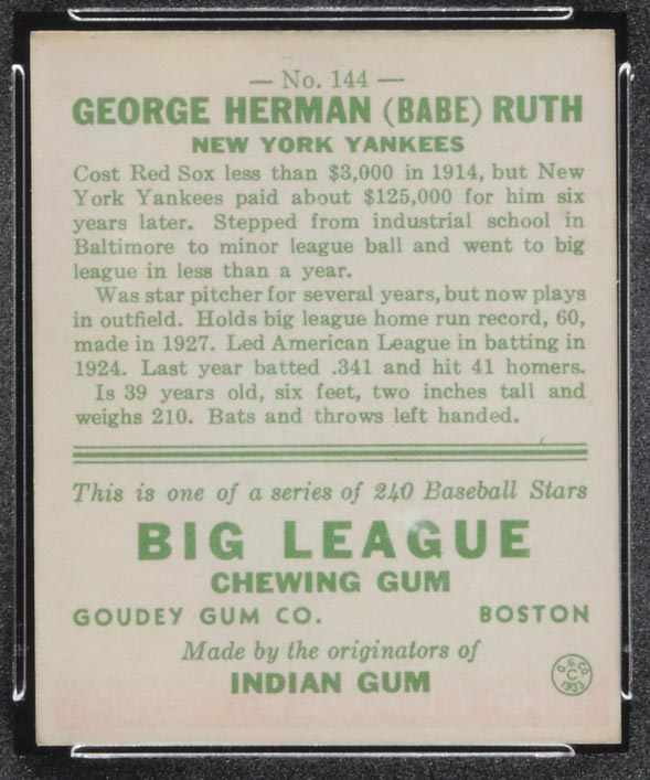 george herman babe ruth essay Free essay: babe ruth was born on february 6th, 1895 in baltimore, maryland   he was the first of eight children born to kate and george herman ruth,.