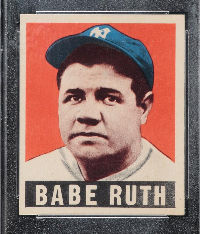 1948-1949 Leaf #3 <b>Babe Ruth</b> New York Yankees - Front <b>...</b> - 1948_1949_leaf_3_babe_ruth_fr