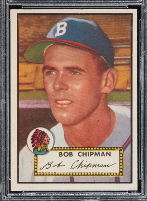 1952 Topps 388 Bob Chipman Boston Braves