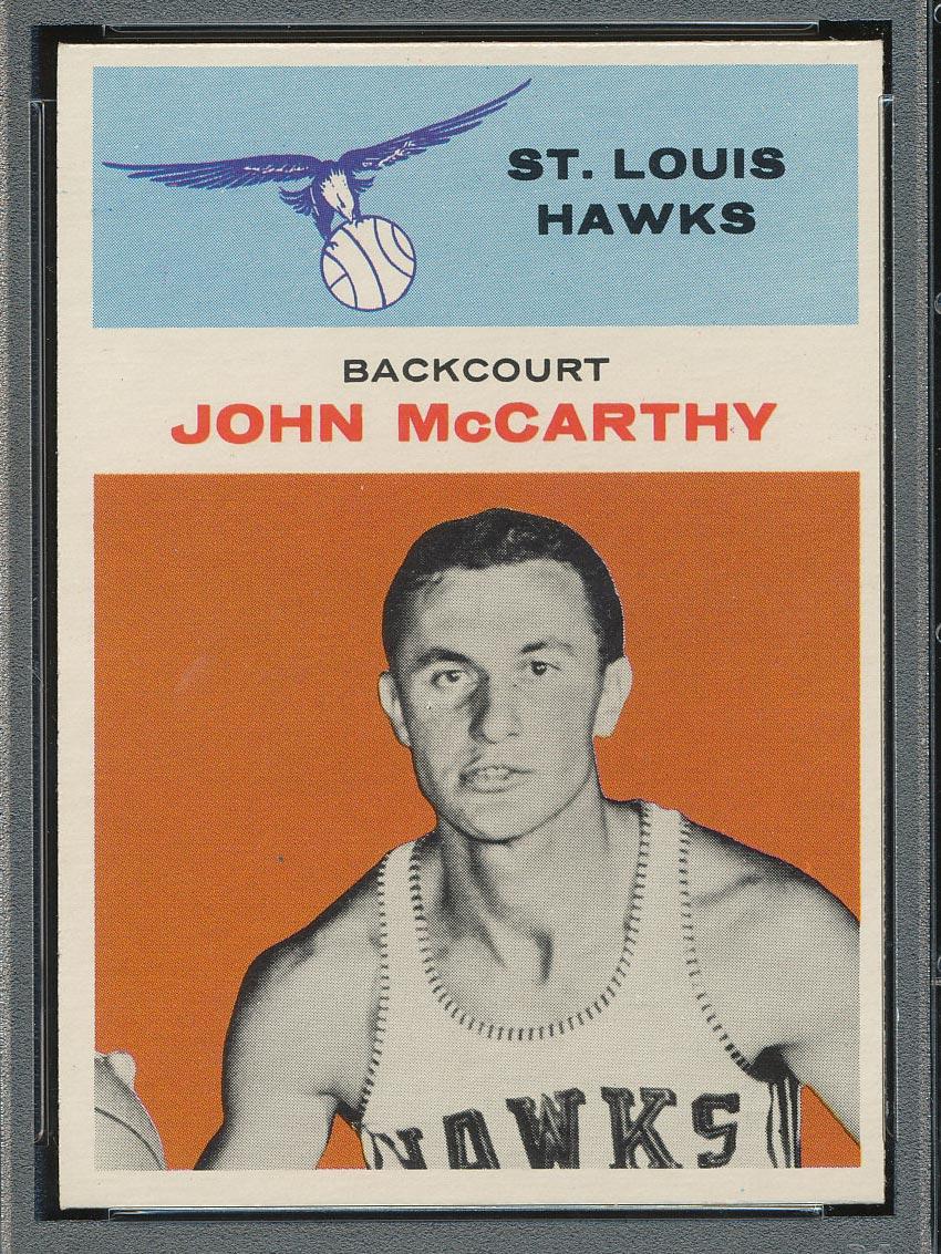 BMW Sportscards   John McCarthy #30   1961-1962 Fleer Basketball