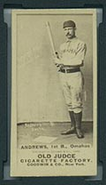 1887-1890 N172 Old Judge Cigarettes Wally Andrews Omaha