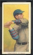 1909-1911 T206 Ed Abbaticchio (blue sleeves) Pittsburg