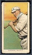 1909-1911 T206 Whitey Alperman Brooklyn