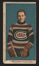 1910-1911 C56 Imperial Tobacco #11 Herb Clark Cobalt - Front