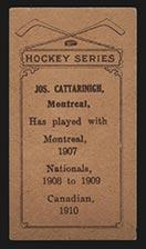 1910-1911 C56 Imperial Tobacco #16 Joseph Cattarnich Canadian - Back