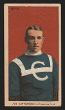 1910-1911 C56 Imperial Tobacco #16 Joseph Cattarnich Canadian - Front
