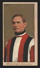 1910-1911 C56 Imperial Tobacco #17 Bruce Stuart Ottawa - Front