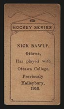 1910-1911 C56 Imperial Tobacco #18 Nick Bawlf Haileybury - Back