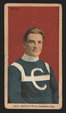 1910-1911 C56 Imperial Tobacco #21 Jack Laviolette Canadian - Front