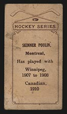 1910-1911 C56 Imperial Tobacco #24 Skinner Poulin Canadian - Back