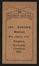 1910-1911 C56 Imperial Tobacco #25 Art Bernier Canadian - Back