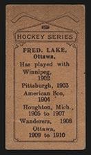 1910-1911 C56 Imperial Tobacco #27 Fred Lake Ottawa - Back