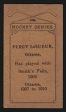 1910-1911 C56 Imperial Tobacco #2 Percy Lesueur Ottawa - Back