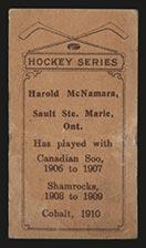 1910-1911 C56 Imperial Tobacco #32 Harold McNamara Cobalt - Back