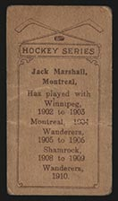 1910-1911 C56 Imperial Tobacco #33 Jack Marshall Wanderers - Back