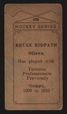 1910-1911 C56 Imperial Tobacco #34 Bruce Ridpath Ottawa - Back