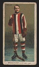 1910-1911 C56 Imperial Tobacco #34 Bruce Ridpath Ottawa - Front