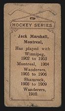1910-1911 C56 Imperial Tobacco #35 Jack Marshall Shamrock - Back