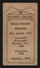1910-1911 C56 Imperial Tobacco #36 Newsy Lalonde Renfrew - Back