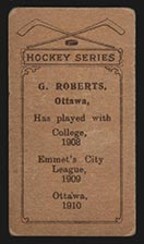 1910-1911 C56 Imperial Tobacco #3 Gordon Roberts Ottawa - Back