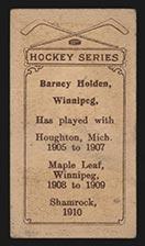 1910-1911 C56 Imperial Tobacco #4 Barney Holden Shamrock - Back