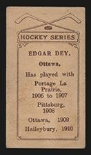 1910-1911 C56 Imperial Tobacco #6 Edgar Dey Haileybury - Back