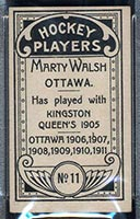 1911-1912 C55 Imperial Tobacco #11 Marty Walsh Ottawa - Back