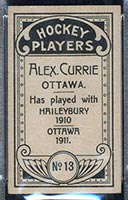 1911-1912 C55 Imperial Tobacco #13 Alex Currie Ottawa - Back