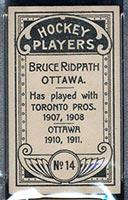 1911-1912 C55 Imperial Tobacco #14 Bruce Ridpath Ottawa - Back