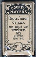 1911-1912 C55 Imperial Tobacco #15 Bruce Stuart Ottawa - Back