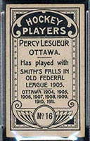 1911-1912 C55 Imperial Tobacco #16 Percy Lesueur Ottawa - Back