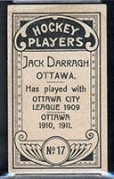 1911-1912 C55 Imperial Tobacco #17 Jack Darragh Ottawa - Back