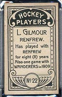 1911-1912 C55 Imperial Tobacco #22 Larry Gilmour Renfrew - Back