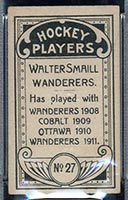 1911-1912 C55 Imperial Tobacco #27 Walter Smaill (hand on stick) Wanderers - Back