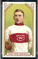 1911-1912 C55 Imperial Tobacco #27 Walter Smaill (hand on stick) Wanderers - Front