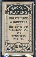 1911-1912 C55 Imperial Tobacco #30 Harry Hyland Wanderers - Back