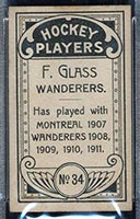 1911-1912 C55 Imperial Tobacco #34 F. Glass Wanderers - Back