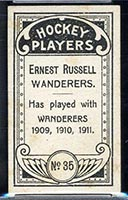 1911-1912 C55 Imperial Tobacco #35 Ernest Russell Wanderers - Back