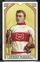 1911-1912 C55 Imperial Tobacco #35 Ernest Russell Wanderers - Front